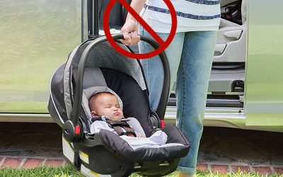 Carrying baby car seats could injure new mums, experts warn